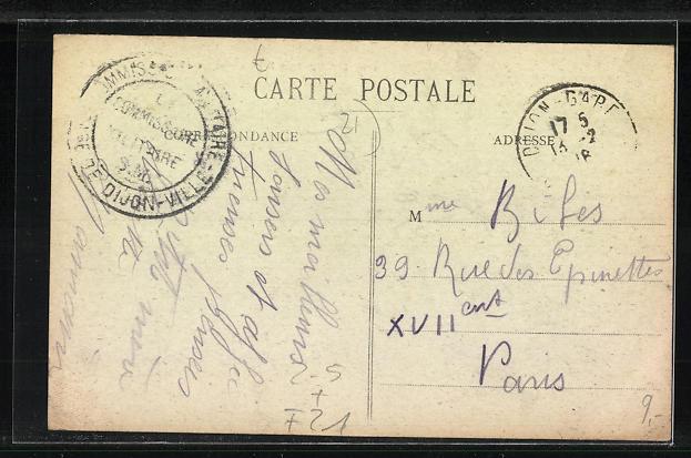 AK Dijon, Carte Postales Illustrees Place Darcy et Boulevard Sevigne 1