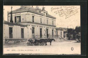 AK Sens, La Gare, Ansicht vom Bahnhof