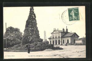 AK Lamotte-Beuvron, La Gare, Blick zum Bahnhof