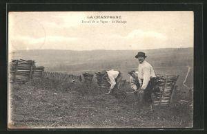 AK Avize, Travail de la Vigne, Arbeiter in der Landwirtschaft