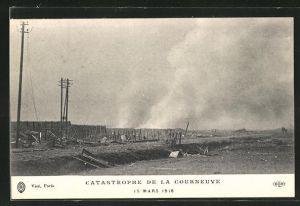AK Courneuve, Catastrophe de la Courneuve 1918, Explosion