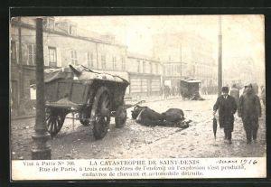 AK Saint Denis, La Catastrophe, Explosion 1916