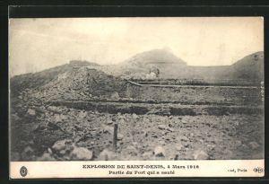 AK Saint Denis, Partie du Fort qui a saute, Explosion 1916