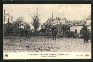 AK Saint Denis, Dans le voisinage, Explosion 1916