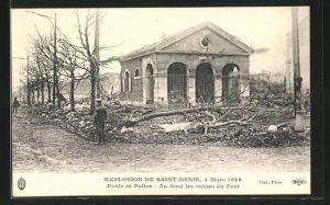 AK Saint Denis, Poste de Police -Au fond les ruines du Fort, Explosion