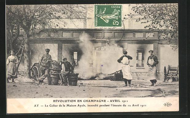 Ak Champagne Marne Révolution Avril 1911 - 2361906 interieur de la ...