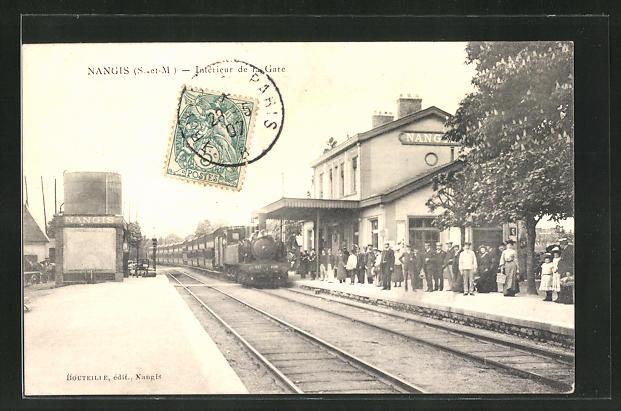AK Nangis, Intérieur de la Gare, Partie am Bahnhof