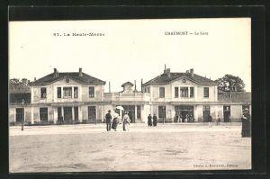 AK Chaumont, La Gare, Partie am Bahnhof