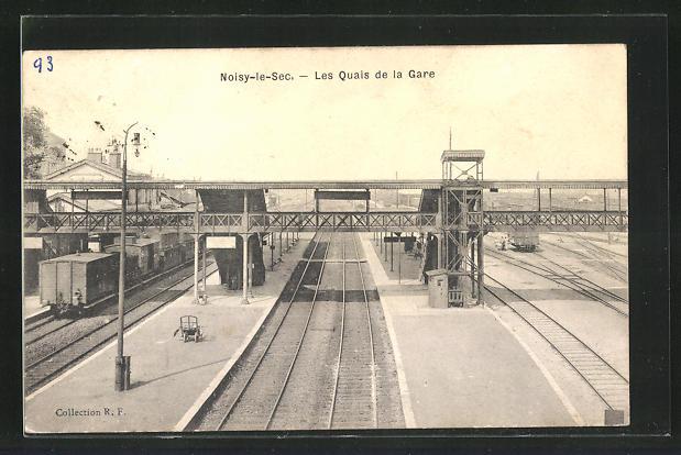 AK Noisy-le-Sec, Les Quais de la Gare, Bahnhof