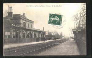AK Chatou, La Gare de Chatou-Croissy, Bahnhof
