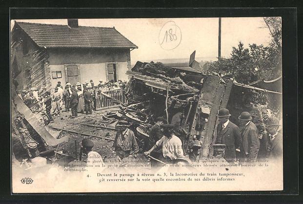 AK Gare de Villepreux, Eisenbahnkatastrophe