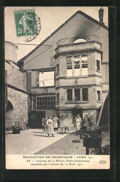 interieur de la Maison.. - 2361906 Révolution Avril 1911 Ak ...