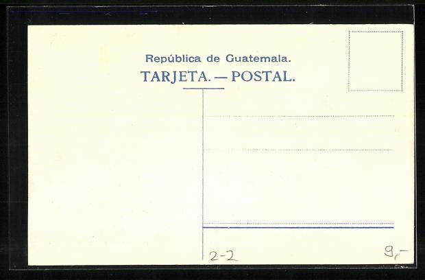 AK Briefmarken und Wappen von Guatemala 1