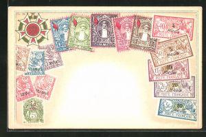 AK Briefmarken von Zanzibar / Sansibar