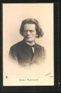 AK Portrait des Musikers Anton Rubinstein