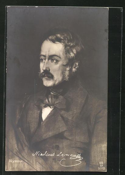 AK Portrait des Dichter Nikolaus Lenau