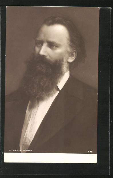 AK Porträt Brahms im Anzug