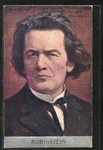 Künstler-AK Portrait des Komponisten Rubinstein