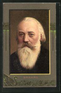 AK Der Komponist Johannes Brahms