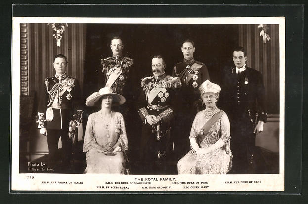AK The Royal Family, H. R. H. The Prince of Wales, H. R. H. The Duke of Gloucester, H. R. H. The Duke of York