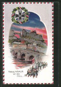 AK Namur, Festung vor dem Fall, Halt gegen das Licht: Brände in der Stadt