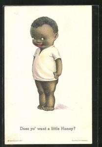 AK Afrikanischer kleiner Junge im weissen Hemd