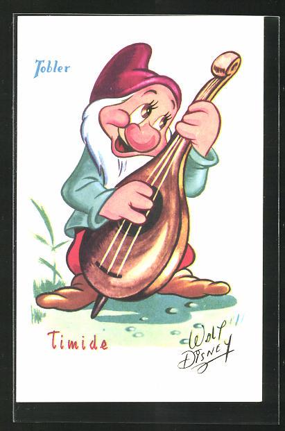 Künstler-AK Walt Disney: Tobler, Timide, Schneewittchen und die 7 Zwerge