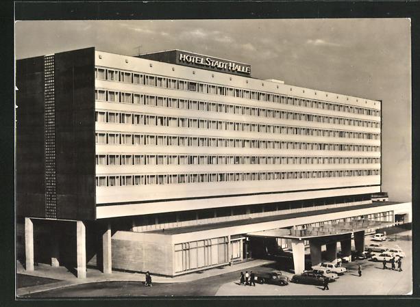 AK Halle / Saale, Hotel Stadt Halle, ein Haus der Interhotel