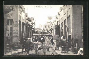 AK Tanger, Rue de Fez, Strassenpartie