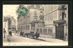 AK Paris, La Rue Georges Biset, La Maison de Sante