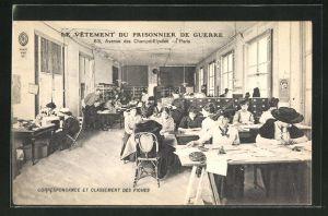 AK Paris, le vetement du Prisonnier de guerre, 63 avenue des champs-elysees