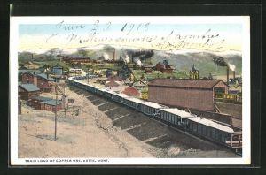 AK Butte, MO, Train load of copper ore