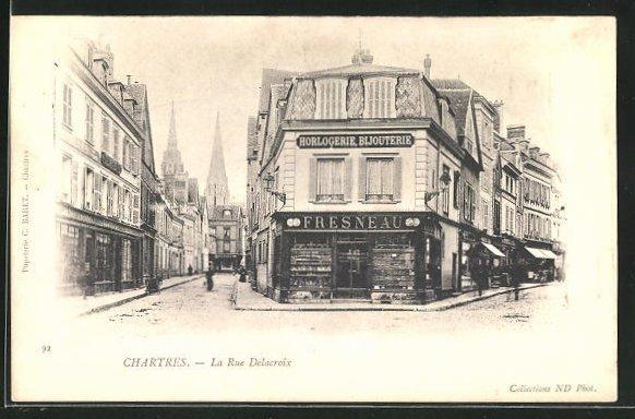AK Chartres, La Rue Delacroix