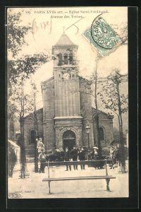 AK Paris, Eglise Saint-Ferdinand, Avenue des Ternes