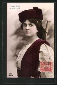 AK Opernsängerin Maria Labia in Carmen