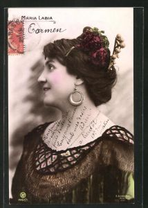 AK Opernsängerin Maria Labia als Carmen