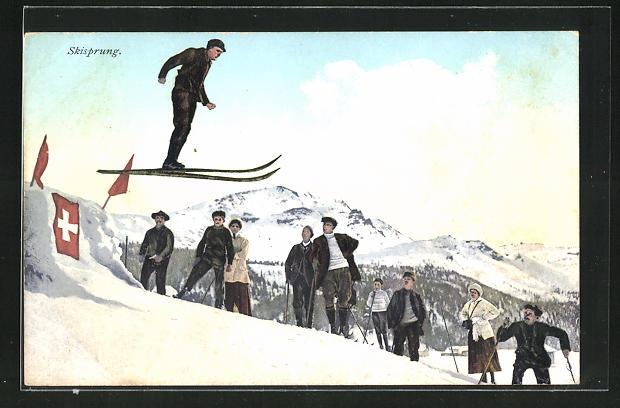 AK Skisprung in den Bergen