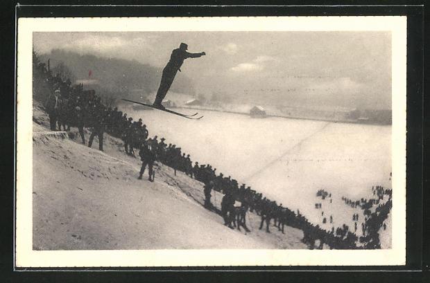 AK Skispringer im Winter