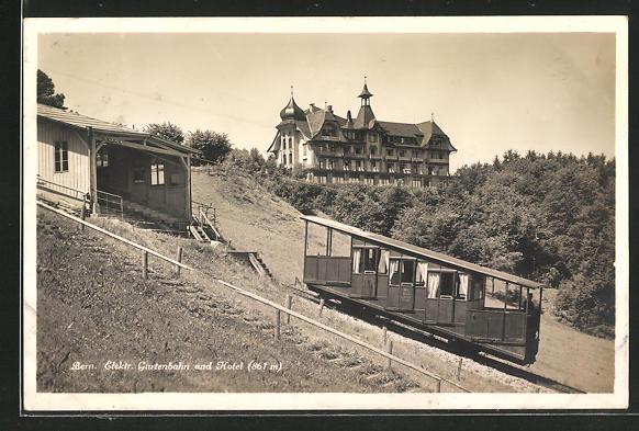 AK Bern, Elektr. Gurtenbahn & Hotel