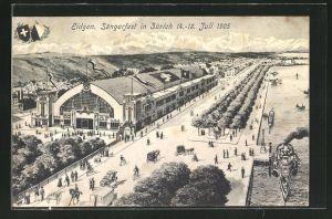 AK Zürich, Eidgen. Sängerfest 1905, Blick über das Festgelände