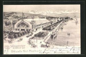 AK Zürich, Eidgen. Sängerfest 1905, Festhalle
