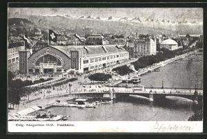 AK Zürich, Eidgen. Sängerfest 1905, Blick auf die Festhütte