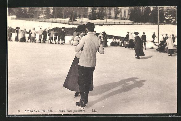 AK Sports D'Hiver, Deux bons patineurs, Paar beim Schlittschuh lauf