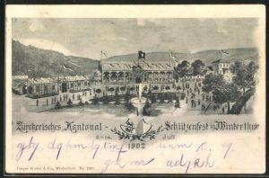 AK Winterthur, Kantonal-Schützenfest 1902, Festgelände