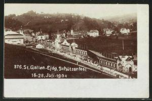AK St. Gallen, Eidgen. Schützenfest 1904, Blick auf das Festgelände