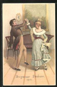 AK Als der Grossvater die Grossmutter nahm, tanzendes Paar