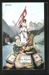 AK Zürich, Eidgen. Sängerfest 1905, Helvetia