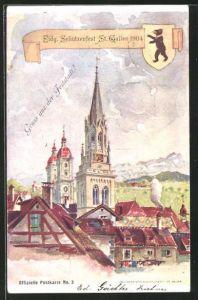 AK St. Gallen, Eidg. Schützenfest 1904, Ortsansicht