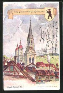 AK St. Gallen, Eidg. Schützenfest 1904, Teilansicht