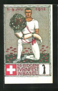 Künstler-AK O. Baumberger: Basel, 56. Eidgen. Turnfest 1912